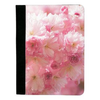 ピンクのさくらんぼの花柄 パッドフォリオ