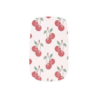 ピンクのさくらんぼパターン ネイルステッカー