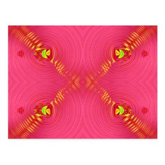ピンクのさざ波 ポストカード