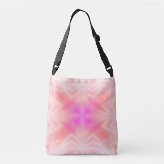 ピンクのしぶき クロスボディバッグ