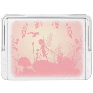 ピンクのすばらしい妖精のシルエット クーラーボックス