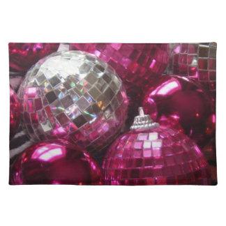 ピンクのつまらないものの布のランチョンマット ランチョンマット