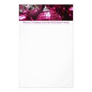 ピンクのつまらないものヘッダーの文房具のピンクの文字 便箋