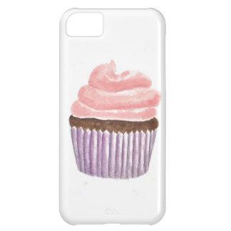 ピンクのつや消しのチョコレートカップケーキ iPhone5Cケース