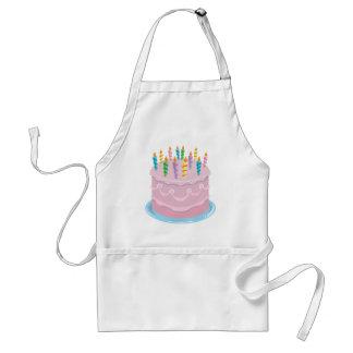 ピンクのつや消しのベーカリースタイルのお誕生日ケーキ スタンダードエプロン
