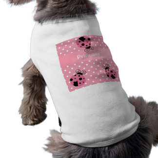 ピンクのてんとう虫および水玉模様 ペット服