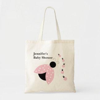 ピンクのてんとう虫のベビーシャワーのバッグ トートバッグ