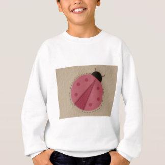 ピンクのてんとう虫 スウェットシャツ