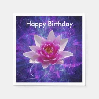 ピンクのはすの花および意味 スタンダードカクテルナプキン