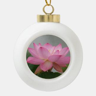 ピンクのはすの花 セラミックボールオーナメント