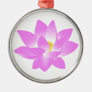 ピンクのはすの花 メタルオーナメント