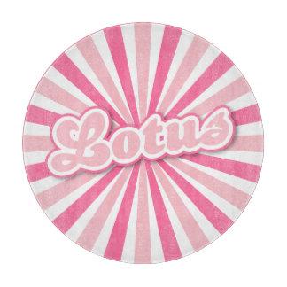 ピンクのはすショッキングピンク太陽のな光線 カッティングボード