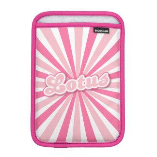 ピンクのはす太陽のな光線 iPad MINI インナーケース