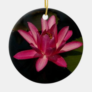ピンクのはす《植物》スイレンの花のオーナメント セラミックオーナメント