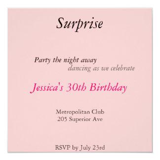 ピンクのびっくりパーティ カード