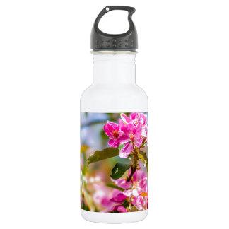 ピンクのりんごの花の花 ウォーターボトル