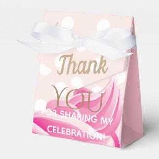ピンクのアイスクリームコーンのパーティの記念品箱 フェイバーボックス
