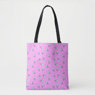 ピンクのアイスクリーム トートバッグ