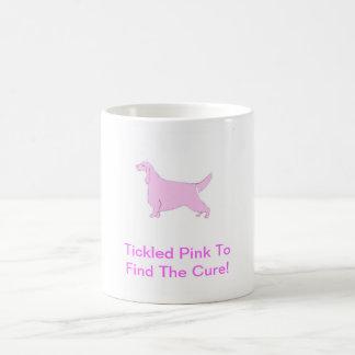 ピンクのアイリッシュセッター コーヒーマグカップ
