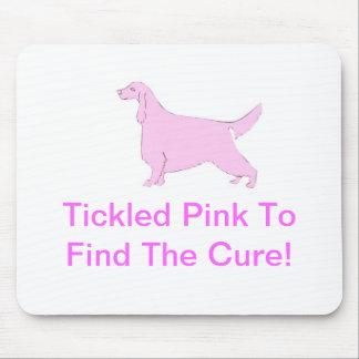 ピンクのアイリッシュセッター マウスパッド