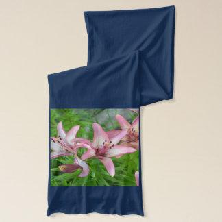 ピンクのアジアユリ スカーフ