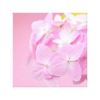 ピンクのアジサイの正方形のキャンバス キャンバスプリント