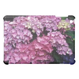 ピンクのアジサイの花のiPadの場合 iPad Miniケース
