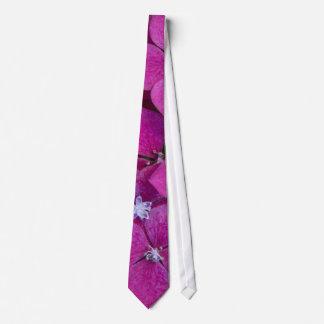 ピンクのアジサイの花 ネクタイ