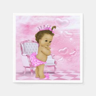 ピンクのアフリカ系アメリカ人のベビーシャワー スタンダードカクテルナプキン