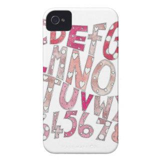 ピンクのアルファベット iPhone 4 カバー