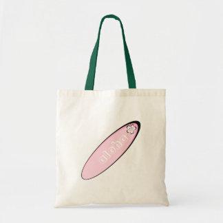 ピンクのアロハハイビスカスのデザイン トートバッグ