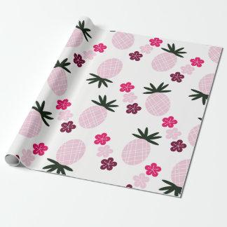 ピンクのアロハ包装紙でかわいらしい ラッピングペーパー