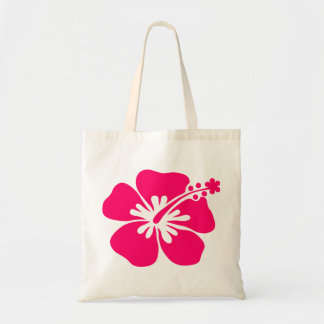 ピンクのアロハ花 トートバッグ