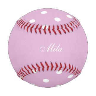 ピンクのアンゴラのカスタム 野球ボール