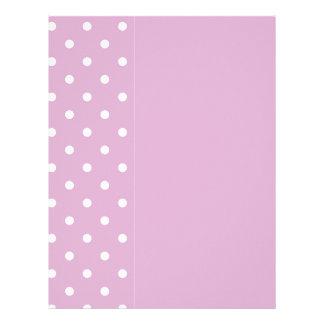 ピンクのアンゴラの水玉模様 レターヘッド