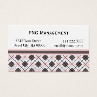 ピンクのアーガイル: 名刺