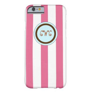 ピンクのイニシャルのモノグラム BARELY THERE iPhone 6 ケース