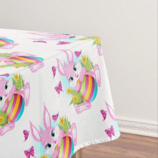 ピンクのイースターのウサギのテーブルクロス テーブルクロス