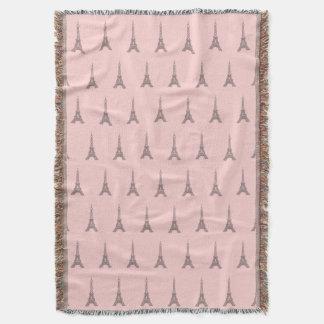 ピンクのエッフェル塔のブランケット スローブランケット