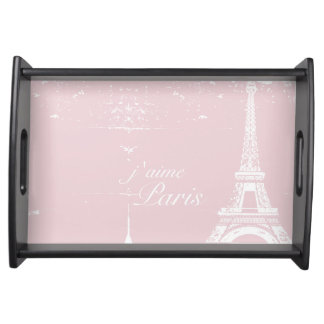 ピンクのエッフェル塔の皿 トレー