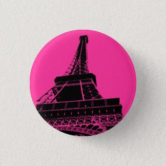 ピンクのエッフェル塔ボタン 缶バッジ