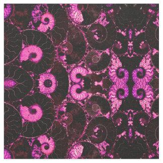ピンクのオウムガイの貝 ファブリック