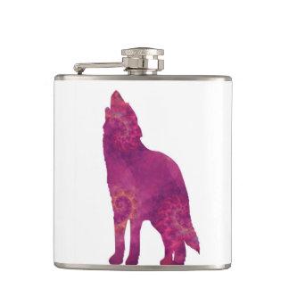 ピンクのオオカミのフラスコ フラスク