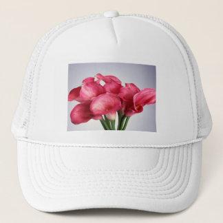 ピンクのオランダカイウユリ キャップ