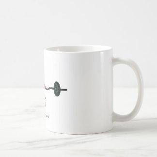 ピンクのカエルの持ち上がる重量 コーヒーマグカップ