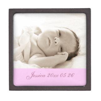 ピンクのカスタムなベビーの写真の記念品Giftbox ギフトボックス