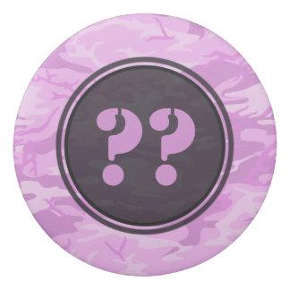 ピンクのカスタムな迷彩柄の消す物 消しゴム