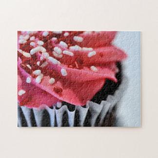 ピンクのカップケーキのジグソーパズル ジグソーパズル