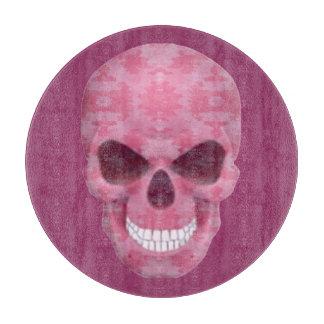 ピンクのカムフラージュのスカルのまな板 カッティングボード