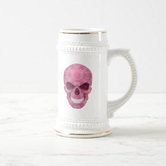 ピンクのカムフラージュのスカルステイン ビールジョッキ